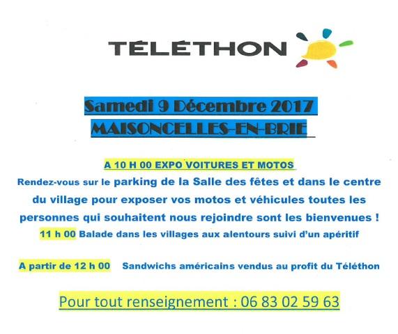 2017 - Téléthon de la Maisoncelles en Brie Flyer10