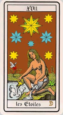 L'étoile à huit branches. Tarot-10