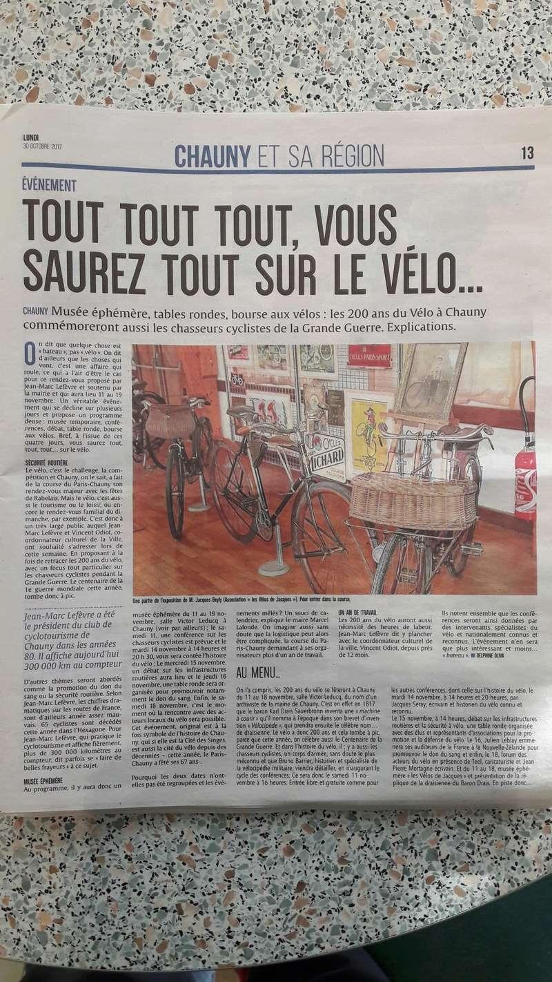 Chauny fête les 200 ans du Vélo ! 20171010