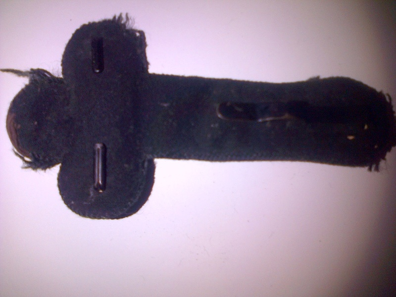 Authentification épaulette trèfle noire avec deux boutons régime de Vichy Img-2049