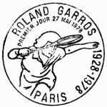 Timbre (France) - Roland-Garros - Internationaux de France de Tennis 1978 - 50 ans du stade ! (Tennis) Roland10