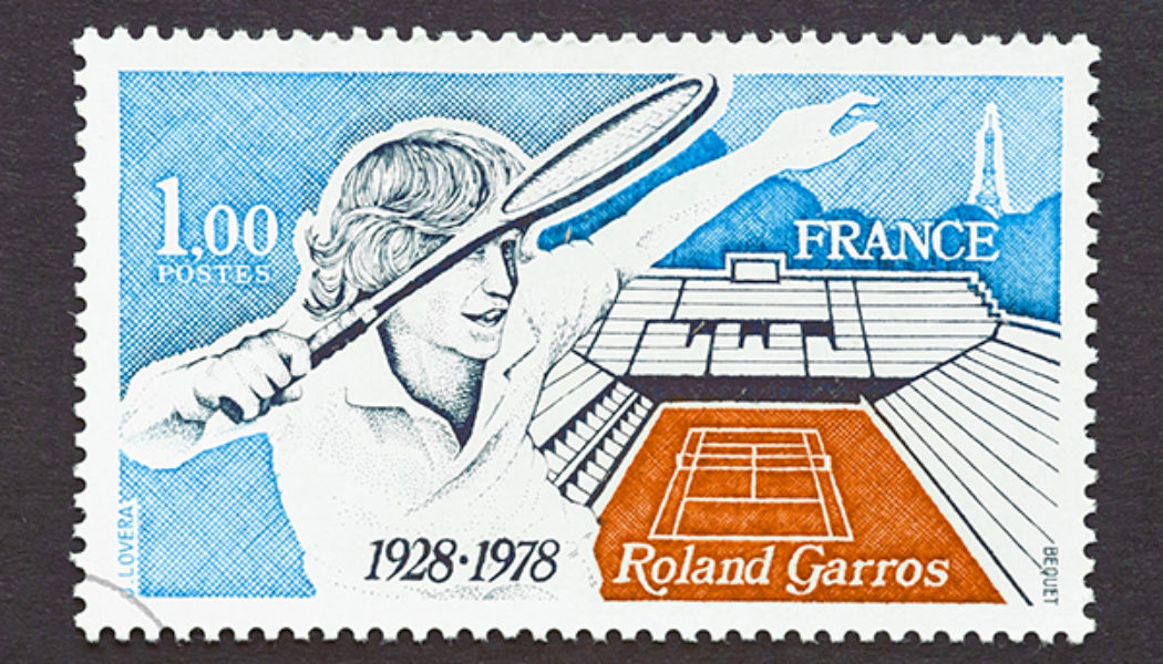 Timbre (France) - Roland-Garros - Internationaux de France de Tennis 1978 - 50 ans du stade ! (Tennis) Timbre10