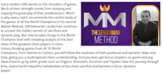 Chess Secrets of the World Champions (Lenderman Method 2) Master Method Series #22 Captur28