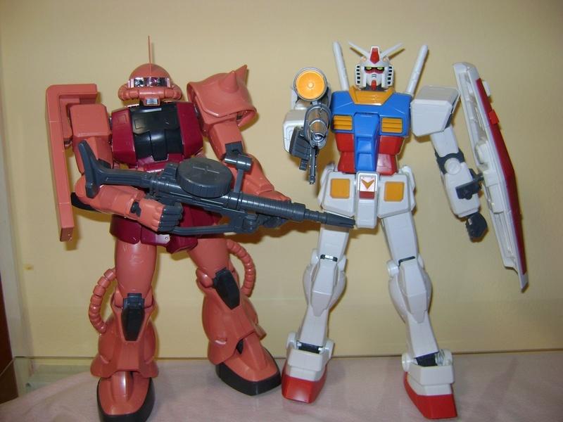 LOTTO MEGA SIZE MODEL GUN PLA GUNDAM RX 78 + ZAKU II 1/48 Gundam12