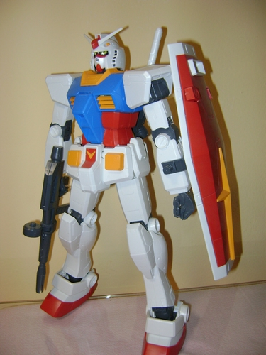 LOTTO MEGA SIZE MODEL GUN PLA GUNDAM RX 78 + ZAKU II 1/48 Gundam13