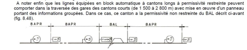 Signalisation BAPR et BAL Bapr10