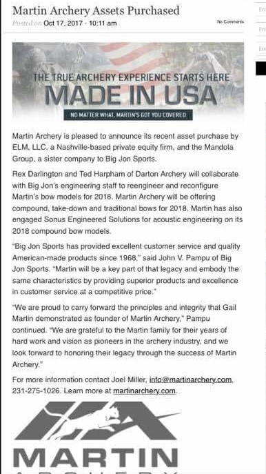 MARTIN ARCHERY 2018 Martin10