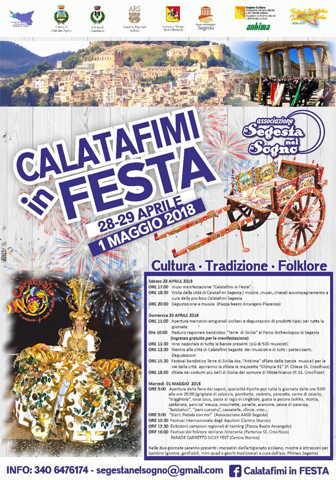 Calatafimi in festa 28-29 aprile e 1 maggio 2018 Locand11