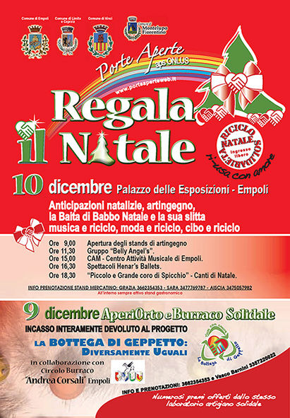 """EMPOLI (FI) - """"REGALA IL NATALE 2017"""" mercatino, non spreco, Babbo Natale Volant10"""