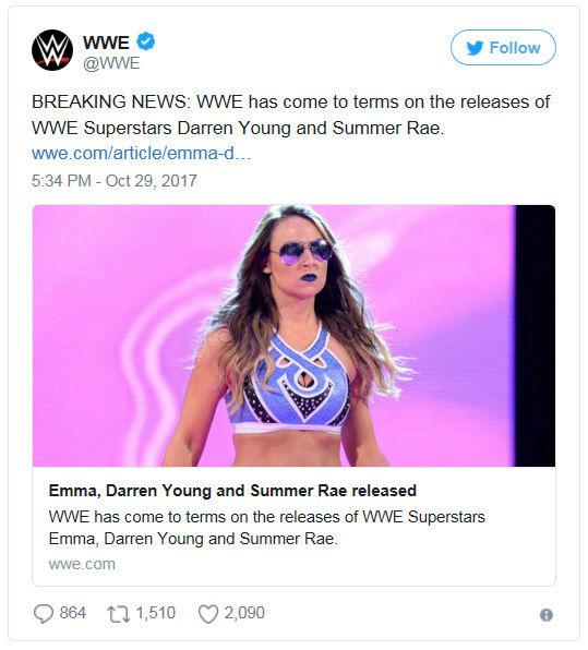 [Contrat] Plusieurs départs à la WWE ! (Mis à jour) Emma10