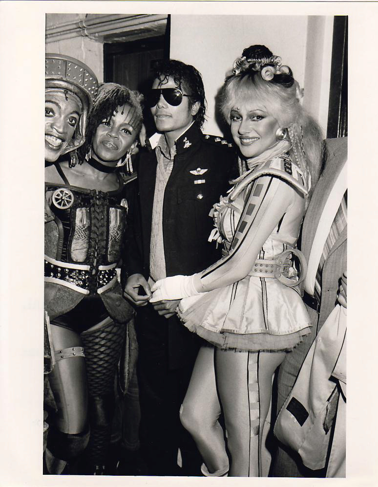 1985- Michael Attends The Musical Starlight Express 00138