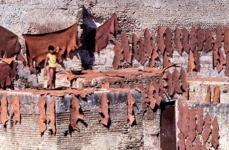 Tanneries Chouara, Quartier des Tanneurs dans la  médina de Fès au Maroc. 29836910