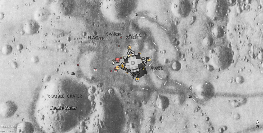 Apollo - Apollo 11 vu par google earth Apollo18