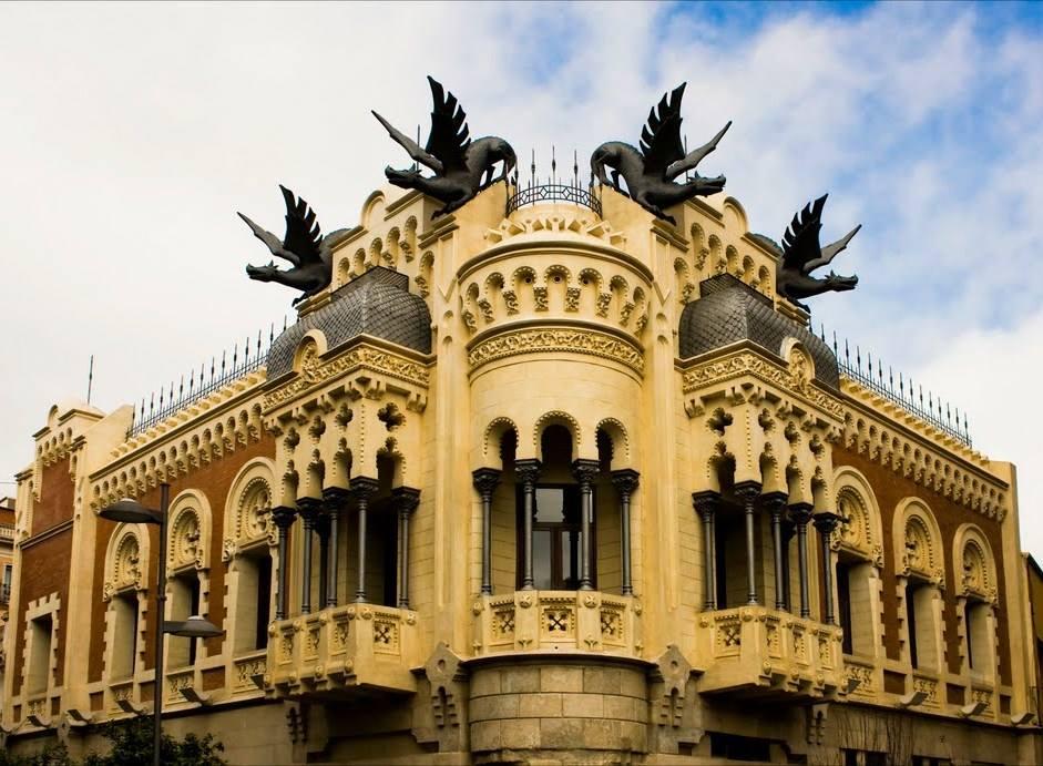"""La """"Maison de Dragons"""" à Ceuta en Espagne. Edxmr710"""