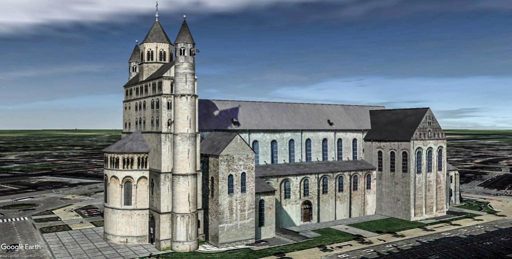 Collégiale Sainte-Gertrude de Nivelles en Belgique. Sainte12