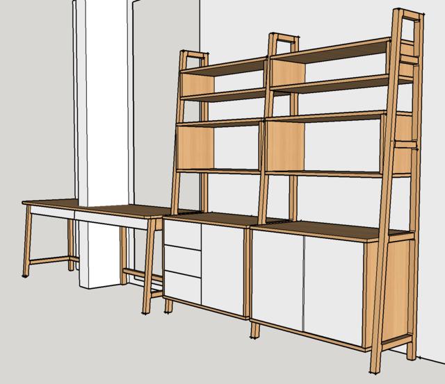 Ensemble bureau/meuble bas/bibliothèque - Page 4 Plan110