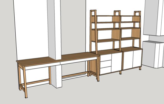 Ensemble bureau/meuble bas/bibliothèque - Page 4 Plan210