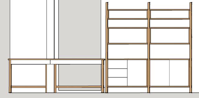 Ensemble bureau/meuble bas/bibliothèque - Page 4 Plan310