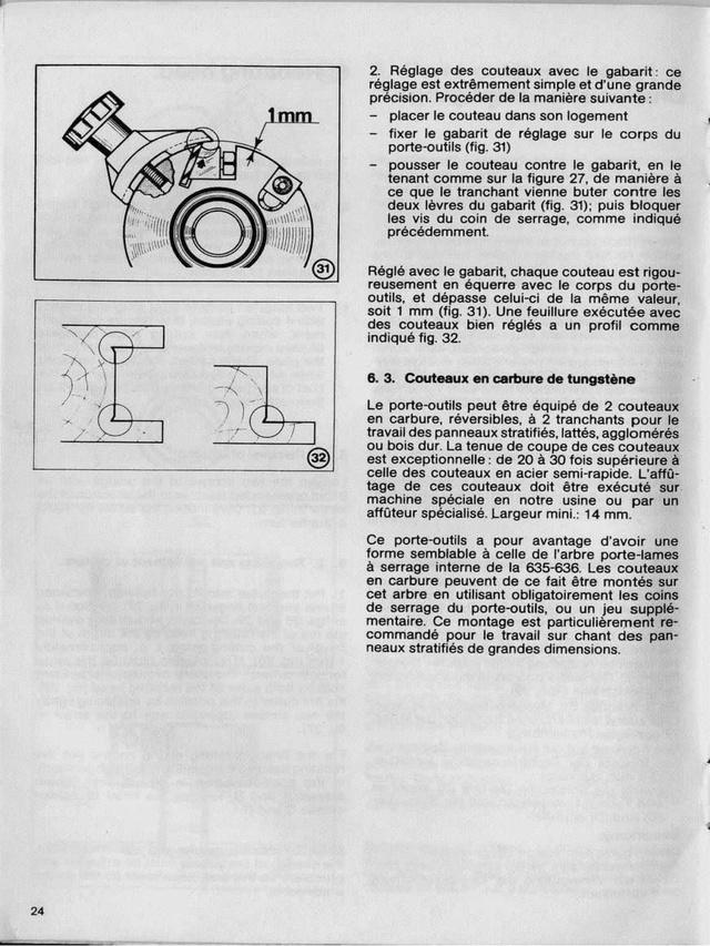 Porte-outil pour toupie Kity 626-627 Toupie10