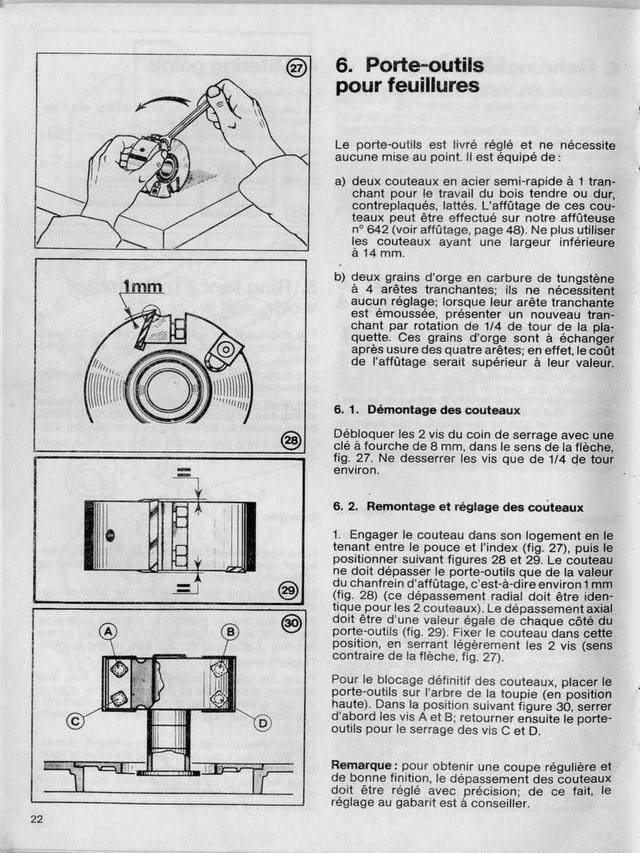 Porte-outil pour toupie Kity 626-627 Toupie11