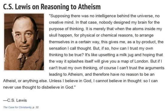 The practical impossibility of atheism Cs_lew10