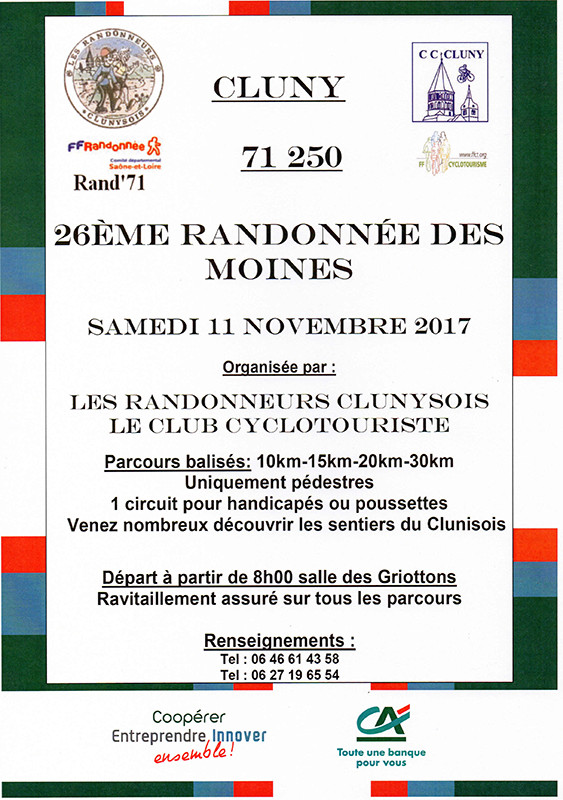 26 ème Randonnée des Moines Affich10
