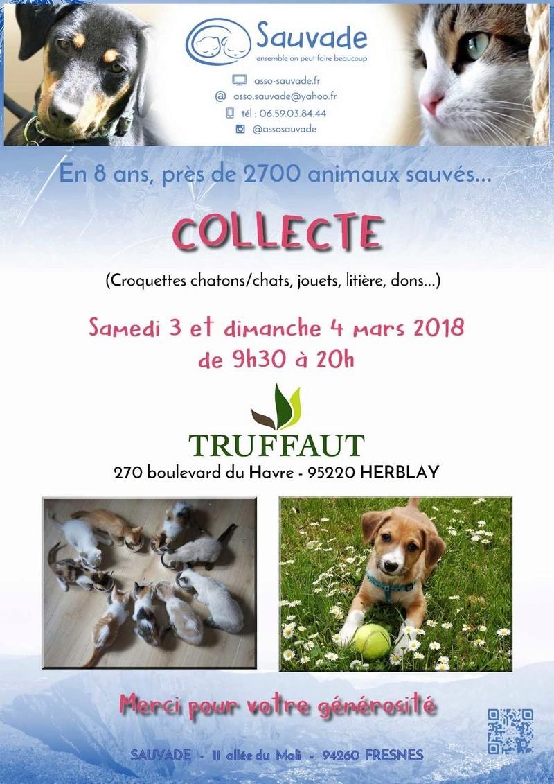 [ANNULÉ] COLLECTE Truffaut Herblay les 3 et 4 mars 2018 Affich11