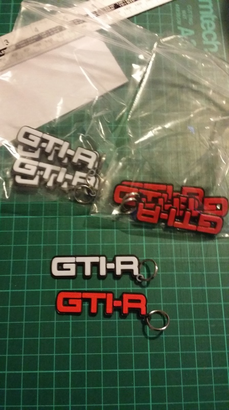 3D Printed Gtir Badges And key rings  20171220