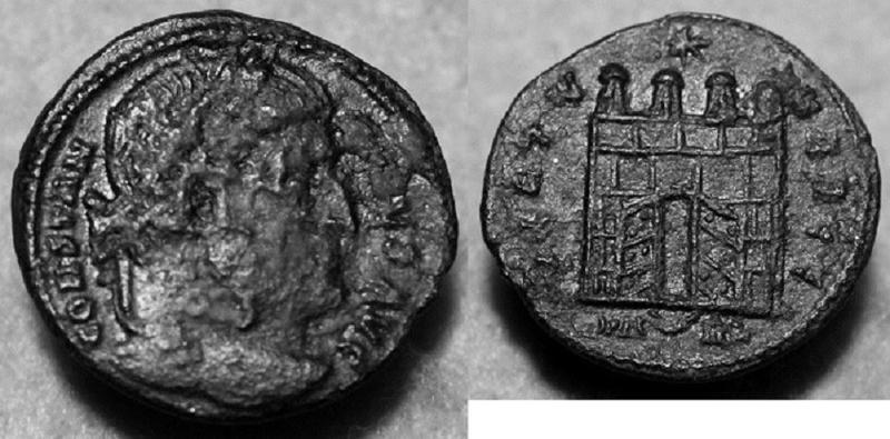 Constantin Ier le Grand, nummus, Arles. Img_2511