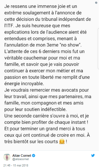 ALIZE CORNET (Française) - Page 6 Unti1775