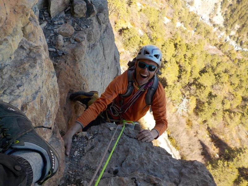 Ouverture d'une grande voie dans les gorges de Saucha Negre Dscn0215