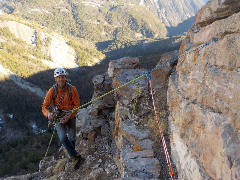 Ouverture d'une grande voie dans les gorges de Saucha Negre Dscn0311