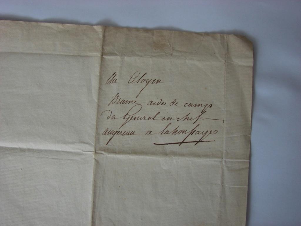 Estimation de lettres du Général Augereau, Maréchal et de son aide camp 1b10