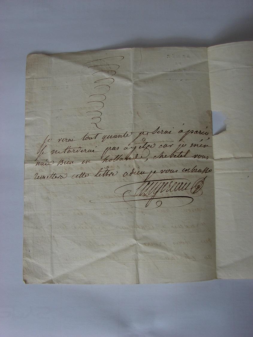 Estimation de lettres du Général Augereau, Maréchal et de son aide camp 2b10