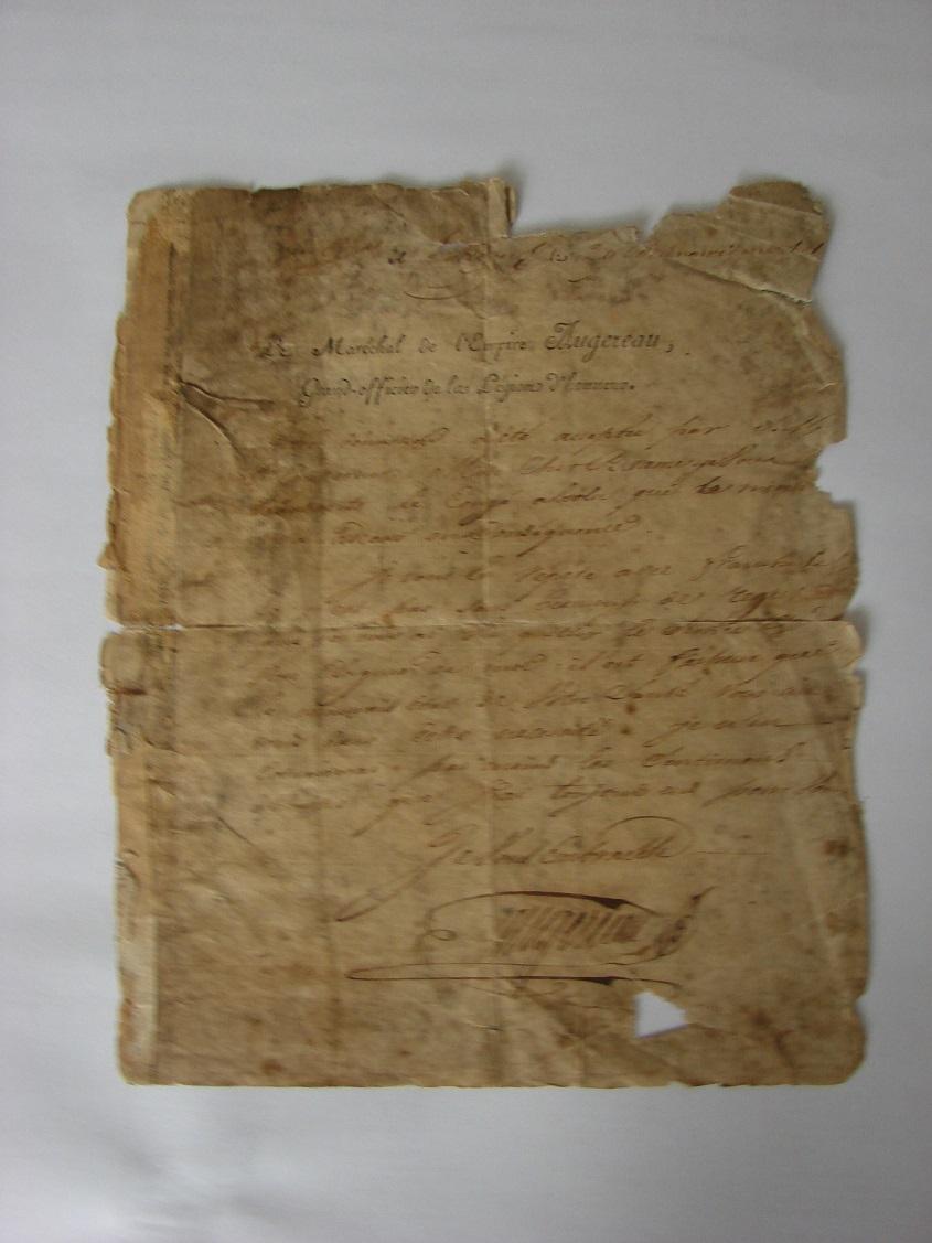 Estimation de lettres du Général Augereau, Maréchal et de son aide camp 414