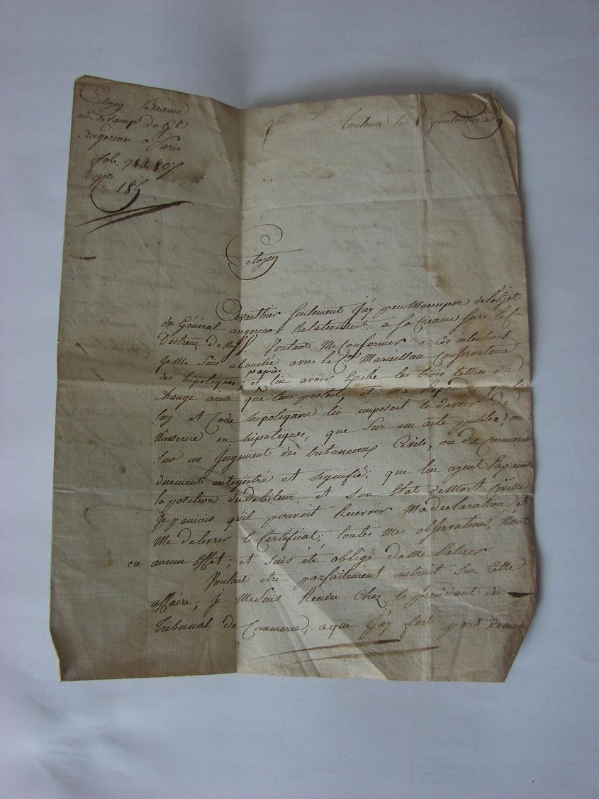 Estimation de lettres du Général Augereau, Maréchal et de son aide camp 513