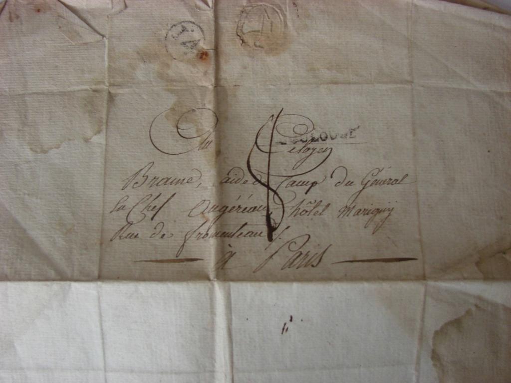Estimation de lettres du Général Augereau, Maréchal et de son aide camp 5b10