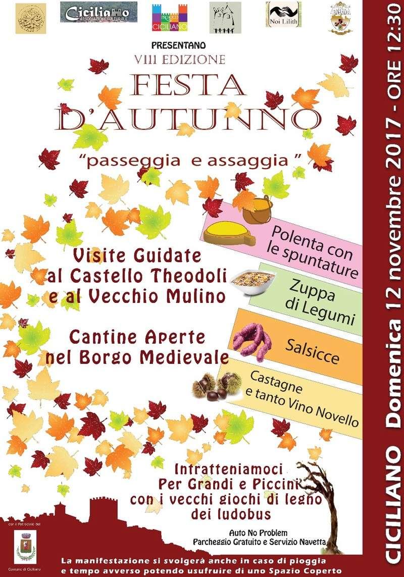 """FESTA D'AUTUNNO  """" Passeggia e Assaggia """" Cicili10"""