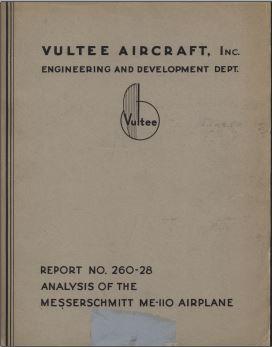 Analysis of Messerschmitt Me 110 Captu182