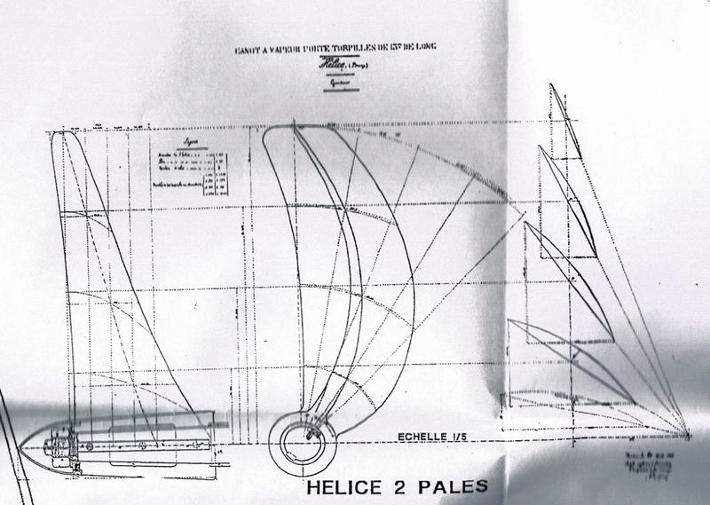"""construction """"turnabout"""" bateau de 1888. Helice10"""