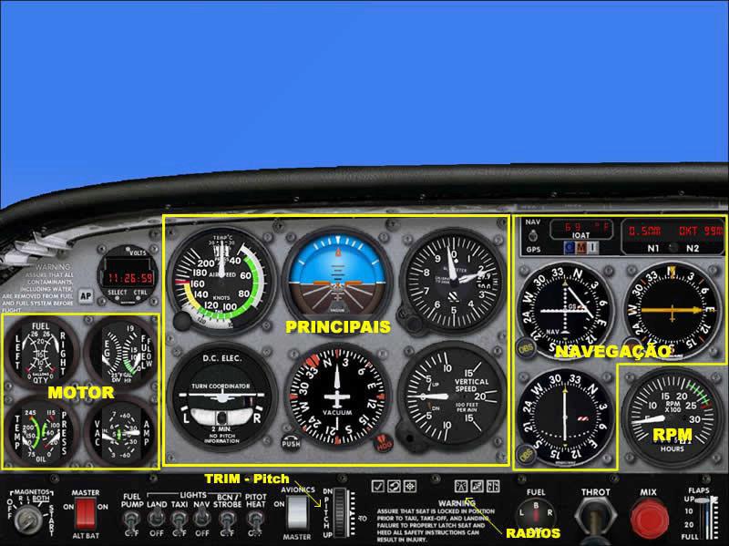 Ground School - Cessna 172 - noções básicas de instrumentos 111