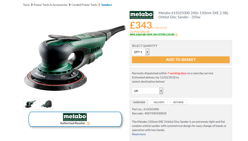 Gamme Metabo Metabo10