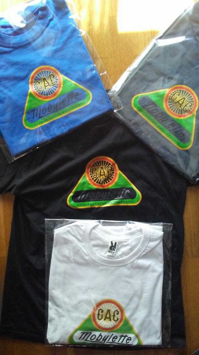 Camisetas logo G.A.C. Mobylette 2019 20180316
