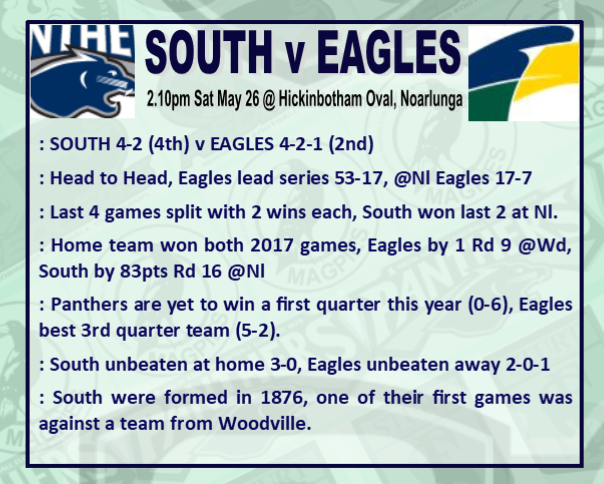Round 8: South v Eagles - Saturday 26 May @ Hickinbotham Oval Rd_8_s11
