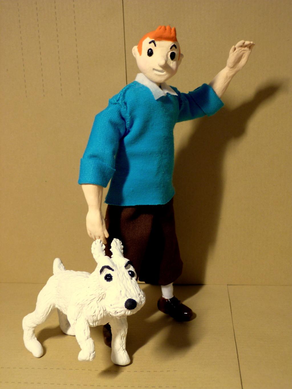 Tintin, Milou et le capitaine Haddock P1080510