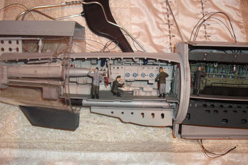 U-BOAT TYPE VIIC U-552 DEUTSCH KRIEGSMARINE 1942 1/48 Dscf7821