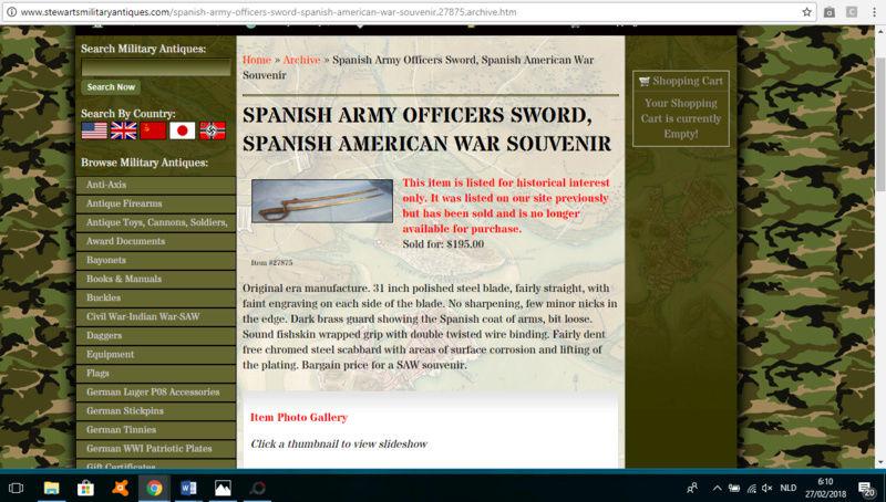 Sabre espagnol daté 1854 Spaans10