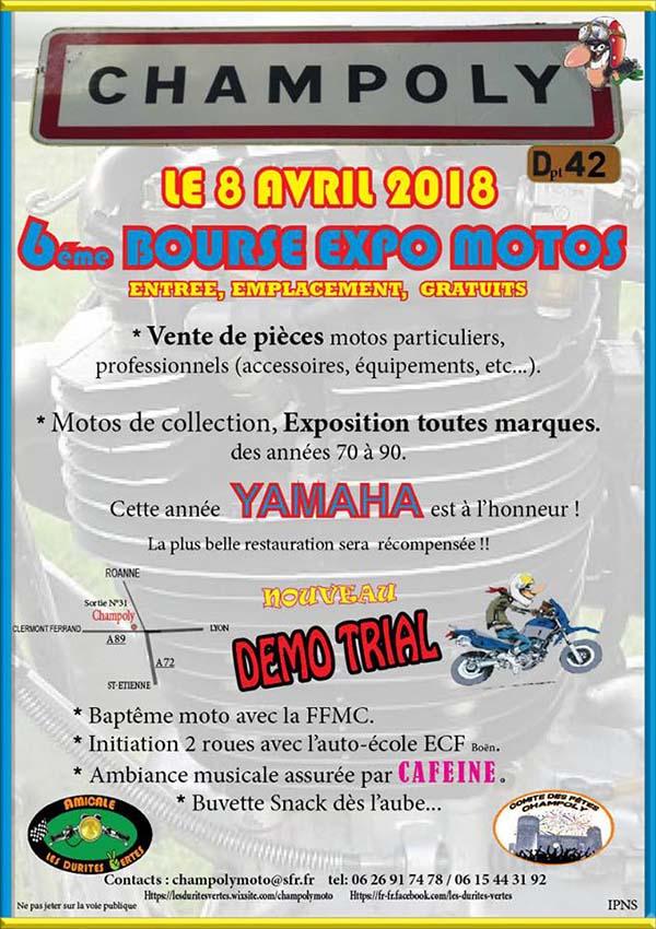 8 Avril à Champoly (42) bourse expo motos anciennes Affich11