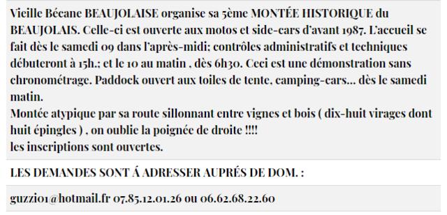 10 JUIN 2018. MONTÉE HISTORIQUE DU BEAUJOLAIS Brouil10