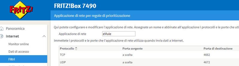 aiuto per configurazione apertura porte nel fritz 7490 Applic10